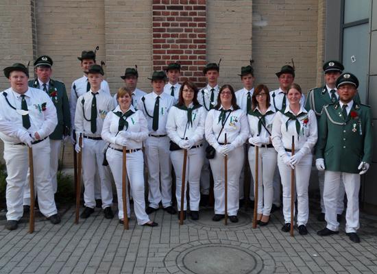 Ehrengarde zum Schtzenfest 2007